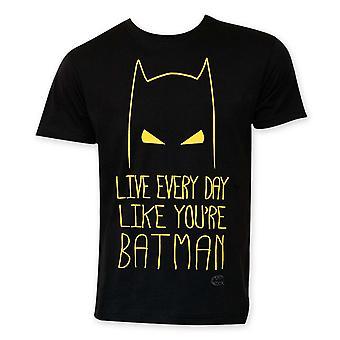 Leven als Batman mannen ' s T-shirt