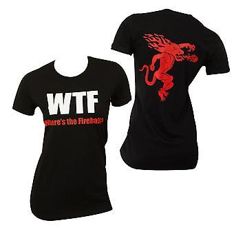 Fireball WTF Babydoll Ladies Tee Shirt