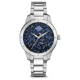 Harley Davidson Women's Crystal Set Blue Dial | Stainless Steel Bracelet 76L188 Watch
