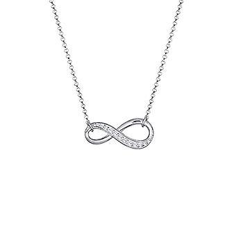 Elli kvinnors halsband i silver 925 med vit Cubic zirconia