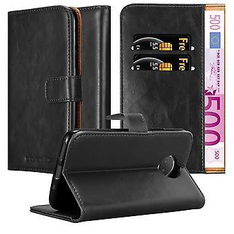 Cadorabo sag for Motorola MOTO G5S PLUS sag dækning - telefon sag med magnetisk lås, stå funktion og kortrum - Sag Cover Beskyttende sag bog Foldestil
