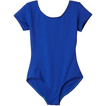 Capezio Big Girls' Classic Short Sleeve, Royal, Size Medium (8-10)