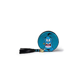Aladdin Coin Purse Genie Glitter new Official Disney Blue