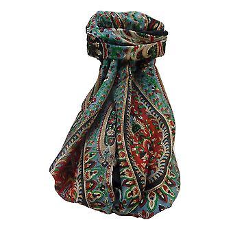 Maulbeerseide traditionelle lange Schal Amrindar schwarz von Pashmina & Seide
