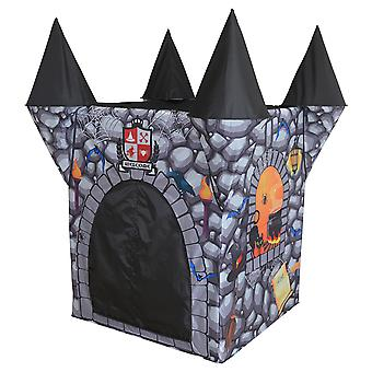 Charles Bentley Kid's Grey Haunted Castle Play Zelt Indoor Outdoor Nutzung