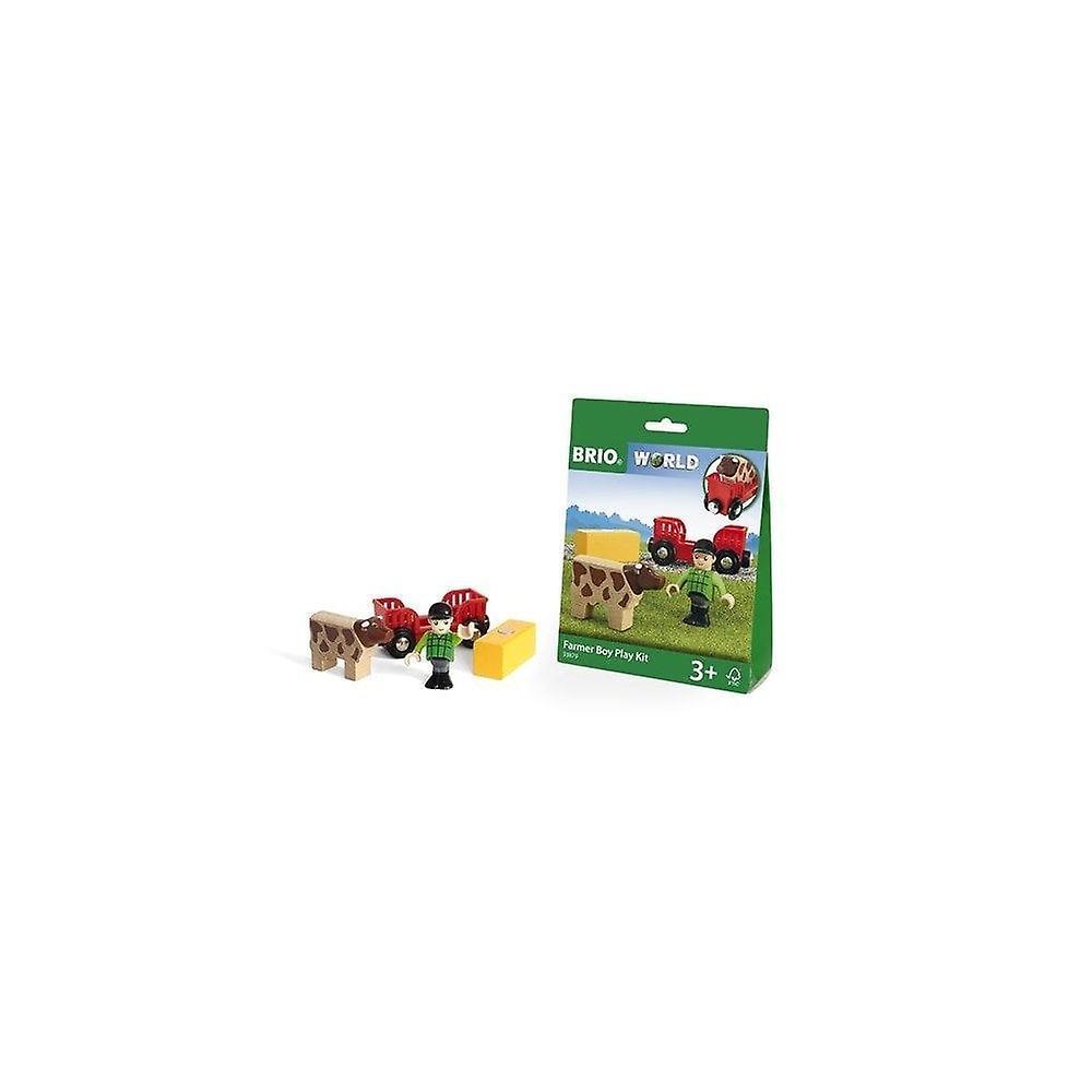 Brio 33879 Farm Boy Play Kit - With Cow