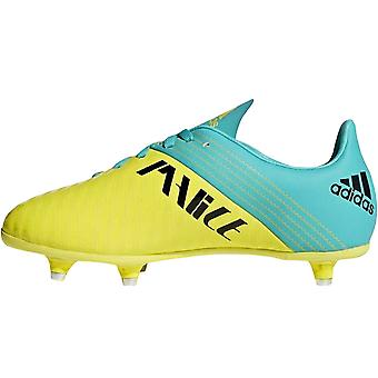 adidas Performance Boys Malice Juniors Soft Ground Rugby Boots Trainers - Yellow