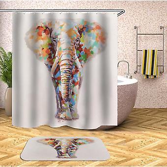 Colorful Spots Elephant Shower Curtain