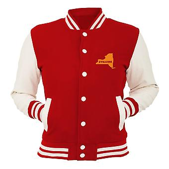 New York new york red college jacket