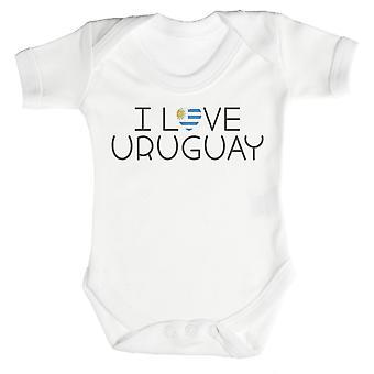 I Love Uruguay Baby Bodysuit / Babygrow