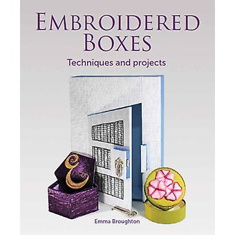 Embroidered Boxes by Emma Broughton