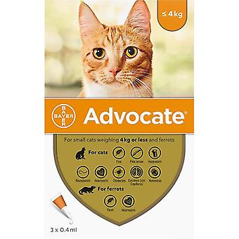 Advocate Cats Under 4kg (8.8lbs) - 3 Pack