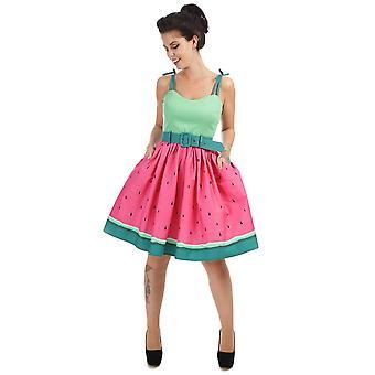 Collectif Vintage Women's Jade Watermelon Doll Swing Dress