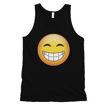 Emoji-hymyilevä Mens musta viehättävä vahva viileä säiliö alkuun ystävä lahja