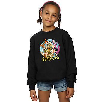 The Flintstones Girls Group Circle Sweatshirt