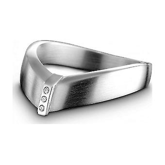 QUINN - Ring - Zilver - Diamant - Wess. (H) - Breedte 56 - 210416