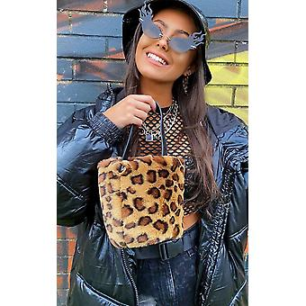IKRUSH Womens Razzi Fluffy Pouch Bag