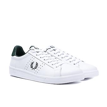 Fred Perry B721 couro branco formadores