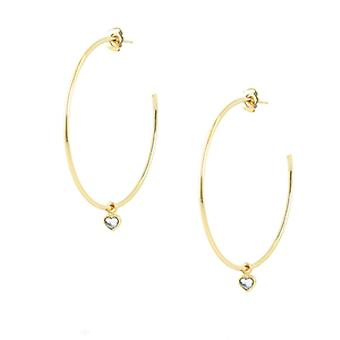 Earrings The InterchangeableS A59248 - Creoles Hearts GM Dor es