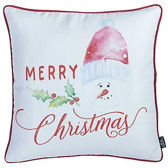 """18""""x18"""" Merry Christmas Printed Decorative Throw Pillow Cover"""