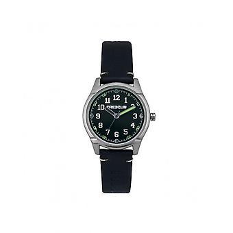 Freegun Watch EE5258 - Steel Leather Bracelet Black Black Dial Junior
