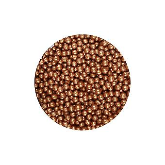 Purple Cupcakes 4mm Shimmer Pearls - Bronze - 80g