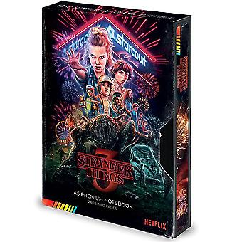 Stranger Things 3 Premium Notebook A5 VHS Cassette Hardcover, Bound, Lined, 240 pages.