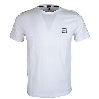 סיפורי הוגו בוס כותנה לבן חולצת טריקו