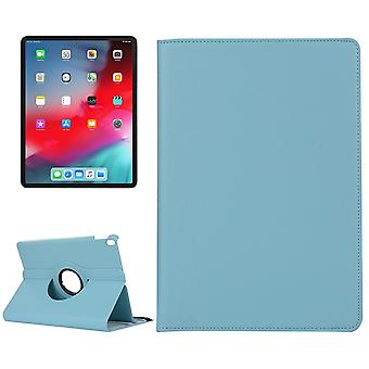 For iPad Pro 12.9 Inch 2018 Case,Lychee Texture PU Leather Folio Cover,Baby Blue