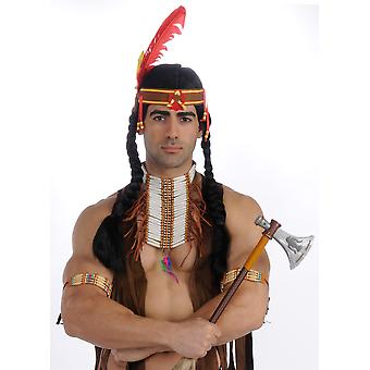 Native American Indian Warrior Men Costume Chest Plate