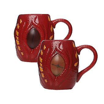 The Hobbit Mug Smaug Eye Heat Changing new Official Red Novelty Boxed