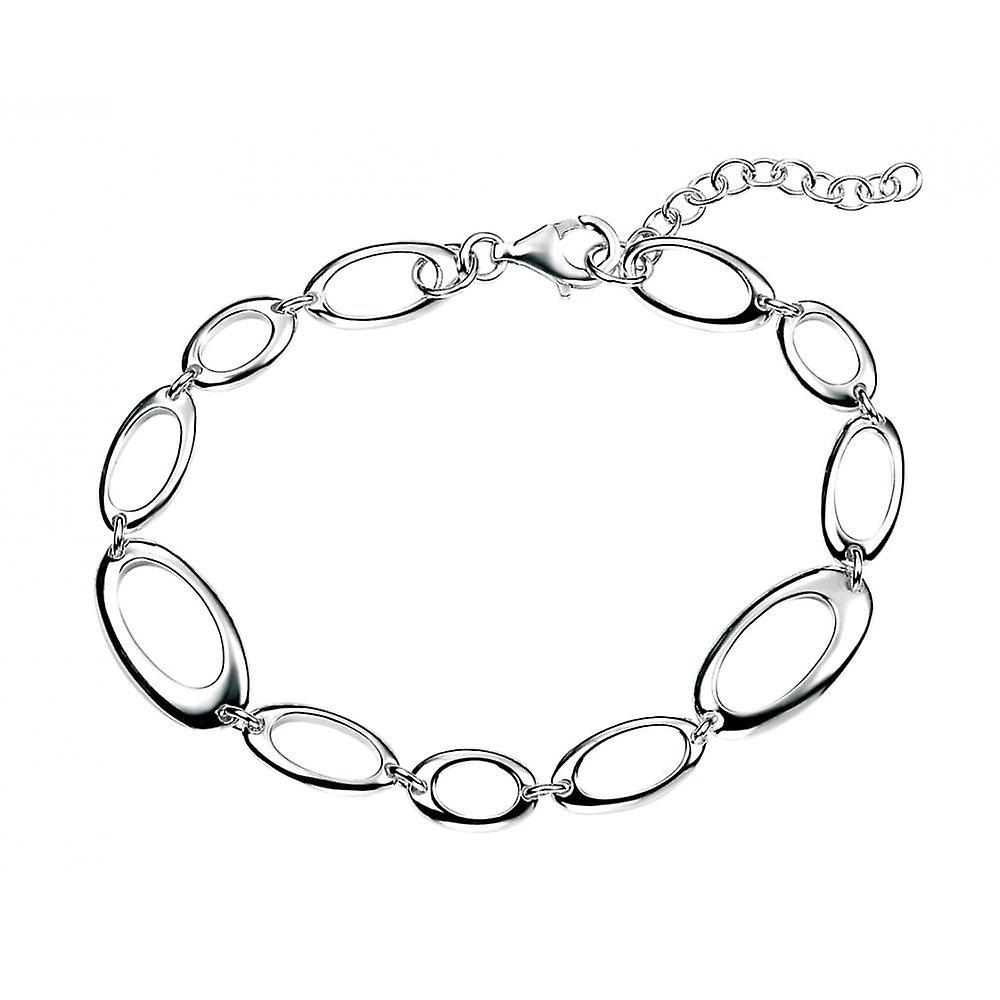 Joshua James Motive Silver Oval Cut Out Bracelet