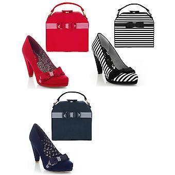 Ruby shoo Women ' s Susanna Court sko pumpar och matchande Tampa Bag