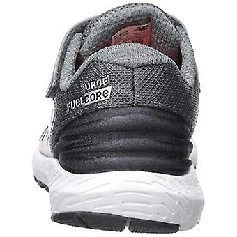 New Balance Boys' Urge V2 FuelCore Running Shoe, Lead/Team red, 2 XW US Infant