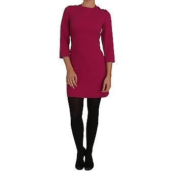 Rochie mini-lungime Dolce & Gabbana Pink Crãªpe Sheath