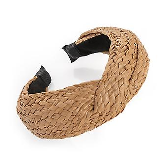 6cm Brown Weave Knot Design Alice Band Fashion Headband