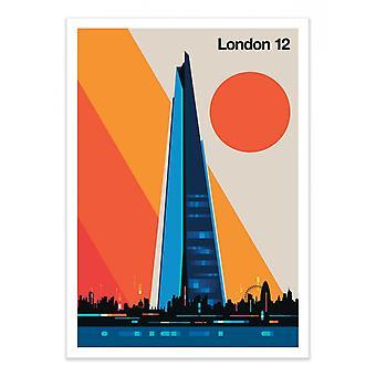 Plakat artystyczny - Londyn 12 - Bo Lundberg