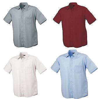 James und Nicholson Mens Classic Fit Short Sleeved Shirt