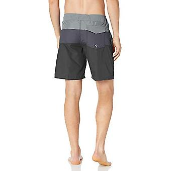 Kanu Surf Men's Phinn Solid Panel Board Short, Grey, 38