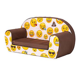 Ready Steady Bed Kids Children Mini Lounger | Kids Sofa Seat Chair | Great for Playroom kidsroom Living Room | Colourful Lightweight and Durable (Emoji Girl)