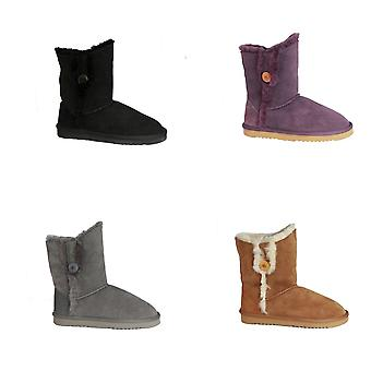 Eastern Counties Leather Womens/Ladies Lacey Sheepskin Button Boots