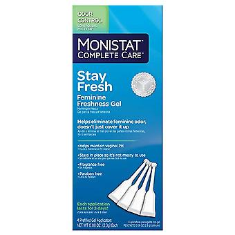 Monistat complete care stay fresh feminine freshness gel, 4 ea