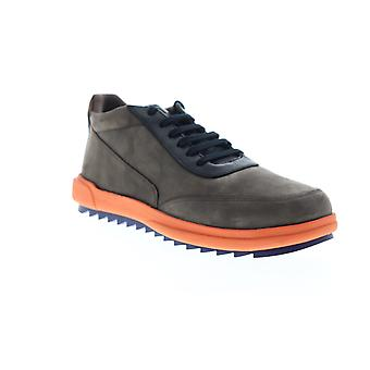 Camper Marges  Mens Brown Nubuck Leather Low Top Sneakers Shoes