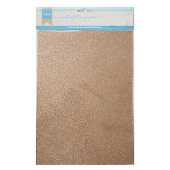 Marianne Design Decoratie Soft Glitter papier 5sh - Bronzen CA3145 A4