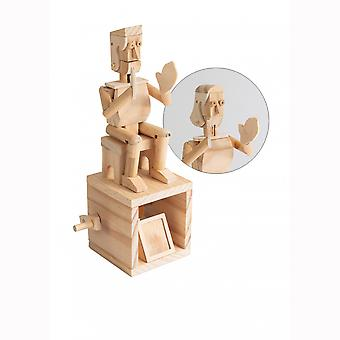 Timberkits Happy Hands - Wooden Moving Model Natural Wood Construction Gift