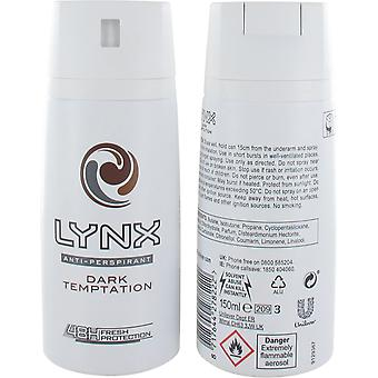 Lynx Dark Temptation Body Spray Deodorant 150ml