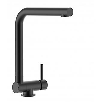 Single-lever Blackchrome Kitchen Sink Mixer With Folding Spout Only 4,5 Cm - 495