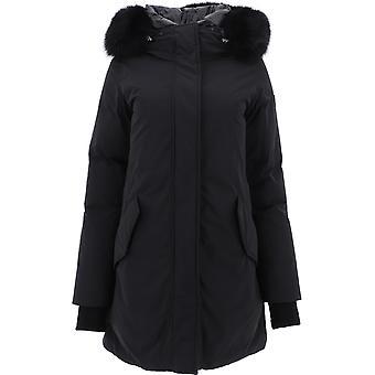 Woolrich Wwou0259frut0573100 Women's Black Polyester Outerwear Jacket