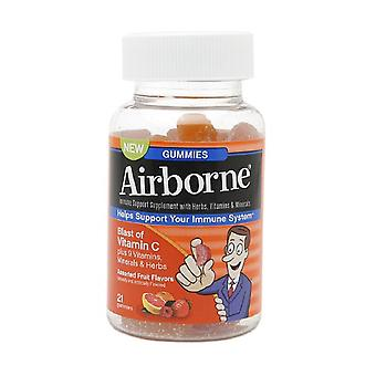 Airborne vitamin c gummies for adults, assorted fruit, 21 ea