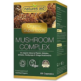 Nature's Aid Organic Mushroom Complex Capsules 60 (141720)